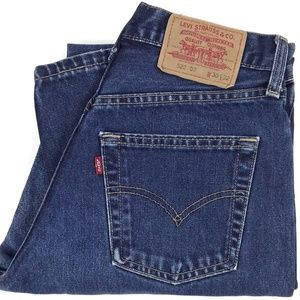Vintage Levi's 522 Slim Dark Denim Jeans Sz 28x31